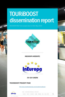 TOURiBOOST dissemination report