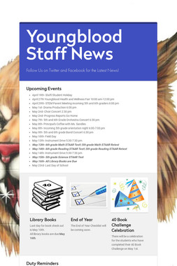 Youngblood Staff News
