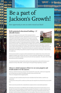 Be a part of Jackson's Growth!