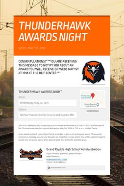 THUNDERHAWK AWARDS NIGHT