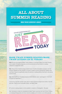 All About Summer Reading