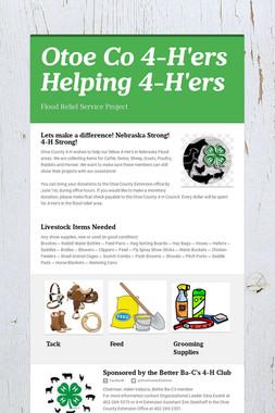 Otoe Co 4-H'ers Helping 4-H'ers