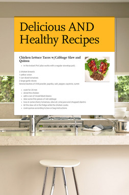 Delicious AND Healthy Recipes