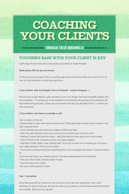 Coaching your clients