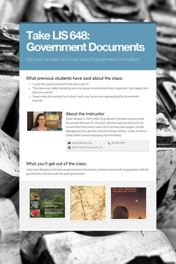 Take LIS 648: Government Documents