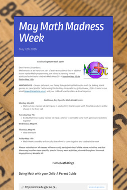 May Math Madness Week