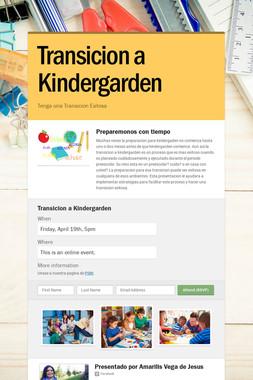 Transicion a Kindergarden