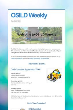OSILD Weekly