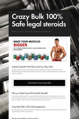 Crazy Bulk 100% Safe legal steroids