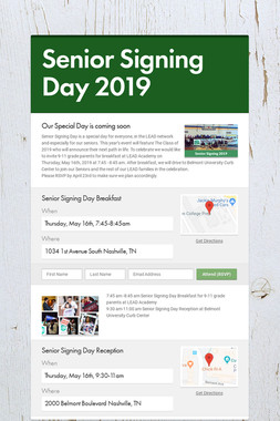 Senior Signing Day 2019