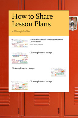 How to Share Lesson Plans