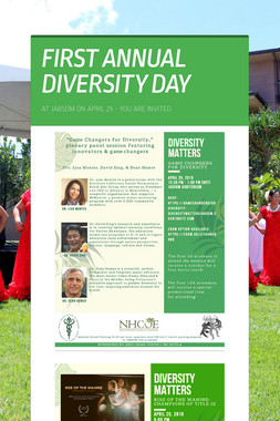FIRST ANNUAL DIVERSITY DAY