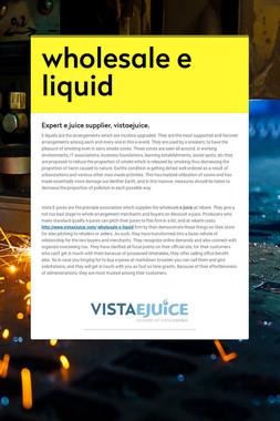 wholesale e liquid