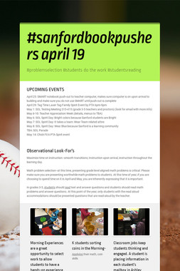 #sanfordbookpushers april 19