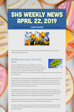 SHS Weekly News April 22, 2019