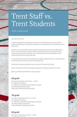 Trent Staff vs. Trent Students