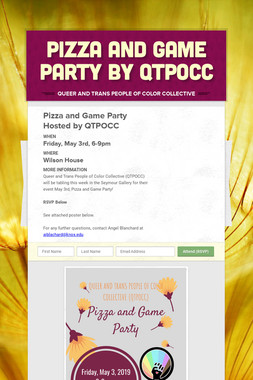 Pizza and Game Party by QTPOCC