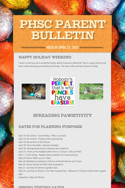 PHSC Parent Bulletin