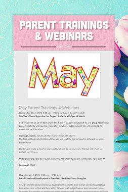 Parent Trainings & Webinars