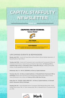 Capital Staffulty Newsletter