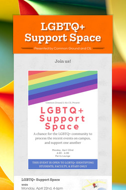 LGBTQ+ Support Space