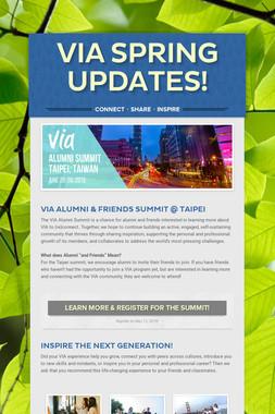 VIA Spring Updates!