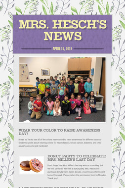 Mrs. Hesch's News