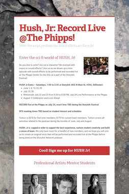 Hush, Jr: Record Live @The Phipps!