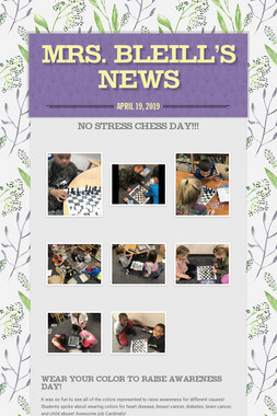 Mrs. Bleill's News