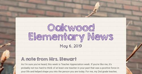 Oakwood Elementary News | Smore Newsletters for Education
