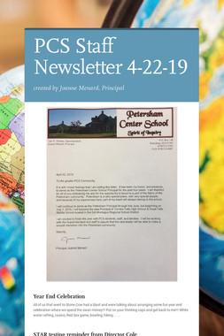 PCS Staff Newsletter 4-22-19