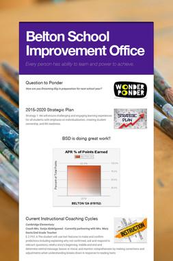 Belton School Improvement Office
