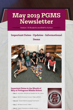 May  2019 PGMS Newsletter