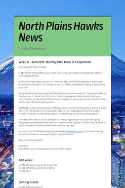North Plains Hawks News