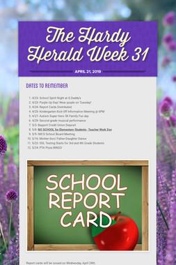 The Hardy Herald Week 31