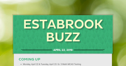 Estabrook Buzz | Smore Newsletters for Business
