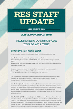 RES Staff Update