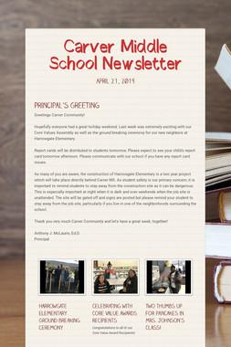 Carver Middle School Newsletter