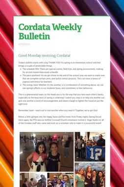Cordata Weekly Bulletin