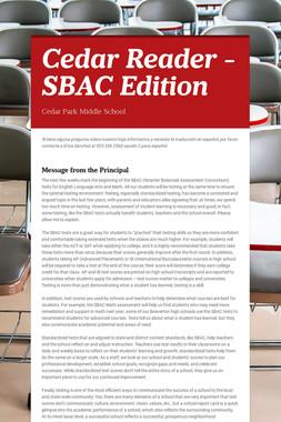 Cedar Reader - SBAC Edition
