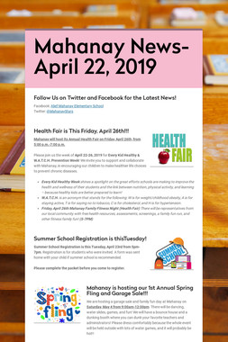 Mahanay News- April 22, 2019