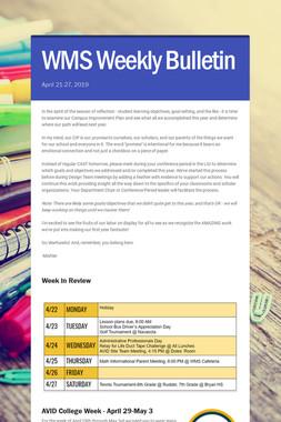 WMS Weekly Bulletin