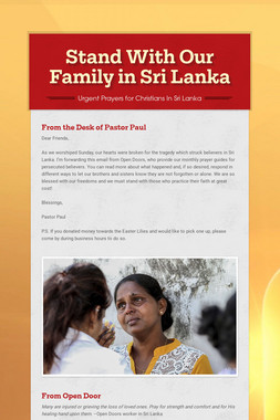 Stand With Our Family in Sri Lanka
