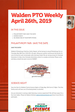 Walden PTO Weekly April 26th, 2019