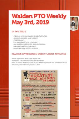 Walden PTO Weekly May 3rd, 2019