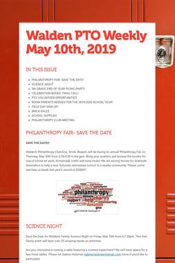 Walden PTO Weekly May 10th, 2019