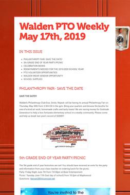 Walden PTO Weekly May 17th, 2019