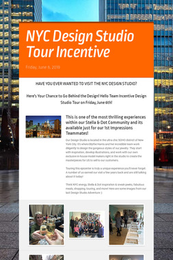 NYC Design Studio Tour Incentive