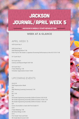 JACKSON JOURNAL/APRIL WEEK 5