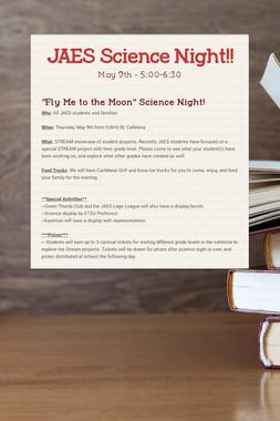 JAES Science Night!!